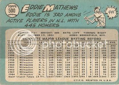 #500 Eddie Mathews (back)