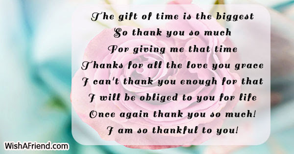 The Gift Of Time Is The Thank You Quote