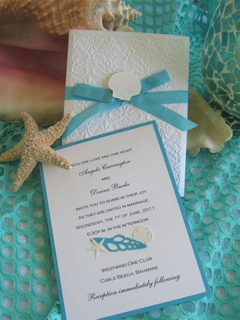 Seashell and Lace Beach Wedding Invitation in 2019