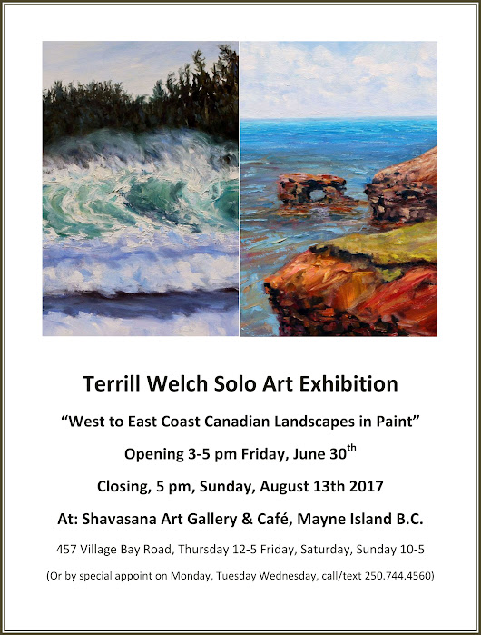West to East Coast Canadian Landscapes in Paint solo exhibition