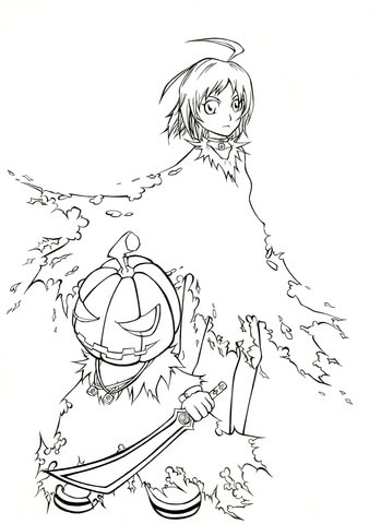 Dibujo De Halloween Fergus De Manhwa Cazador De Brujas Para