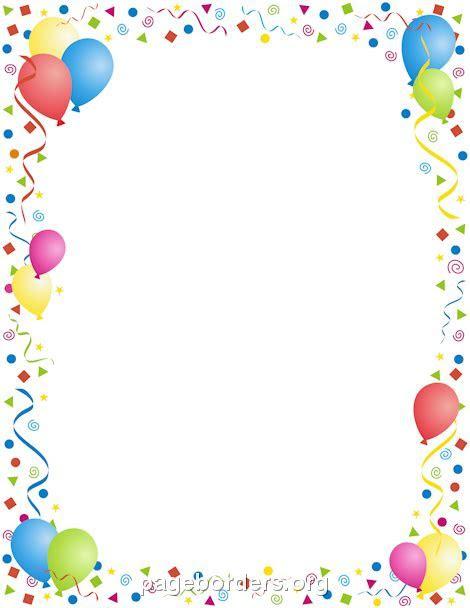 Birthday Border   Clipartion.com