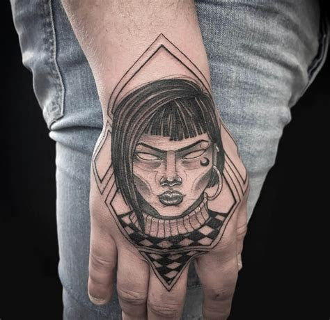 top hand tattoo ideas men cool hand tattoos