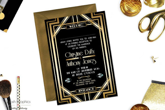 17 Incredibly Glamorous Wedding Invitations for 2017 Couples | weddingsonline