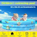 Nomeni Children Inflatable Swimming Pool Inflatable Bathtub Kids Summer Water Fun Play B