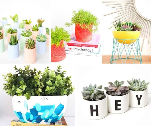 20 Pretty and Unique DIY Planters You'll Love - An Alli Event