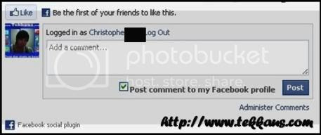 Facebook Comment in Blog