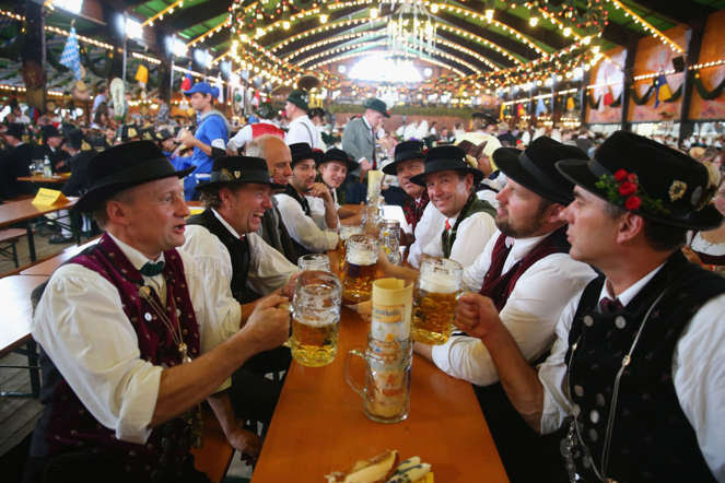 Germany has emerged from World War II into a diverse and relatively peaceful country. Over the years it has shown a steady reduction in nuclear and heavy-weapons capabilities instead focusing on economics and its people. High standards of living and an exceptional organization in everyday life makes life in Germany peaceful.  In picture: A scene from the 181st Oktoberfest in Munich, Germany.