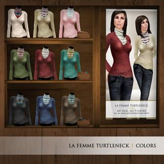 {Zaara} La femme turtleneck colors