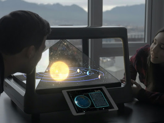 Holus: The Interactive Tabletop Holographic Display by hplustech — Kickstarter