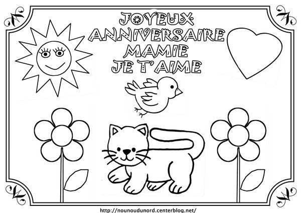 Coloriage204 Coloriage Joyeux Anniversaire Mamie