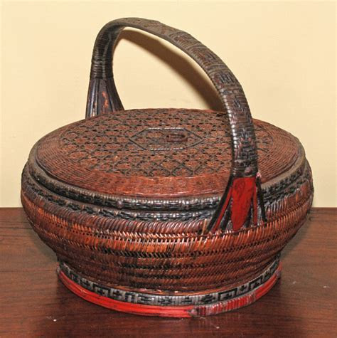 Asian Decor: Woven Basket from Shanghai, China