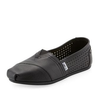 TOMS Perforated Leather Slip-On