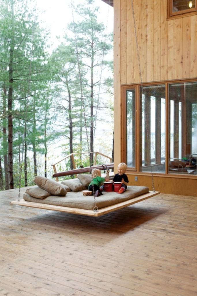 13 Comfy Outdoor Swing Bed Designs Rilane