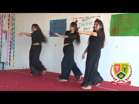 Dance in Black Dress : Meri Ninde Hai Karar - Teachers Day - Nims University