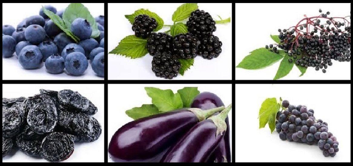 Resultado de imagen para frutas y vegetales de color morado