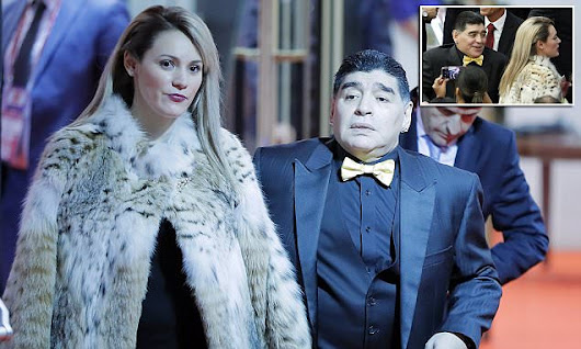 Maradona's girlfriend is under fire for wearing tiger fur | Daily Mail Online