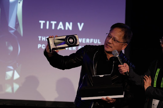 At TITAN V Launch, NVIDIA CEO Gives Away GPUs to Top AI Brainiacs| NVIDIA Blog