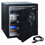 SentrySafe 1.23 cu. ft. Electronic USB Connected Fire-Safe