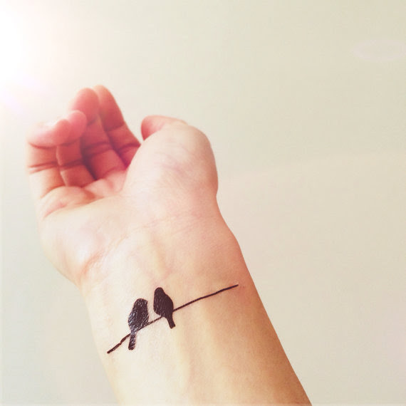Birds On Wire Simple Tattoo Inknart Temporary Tattoo Pack