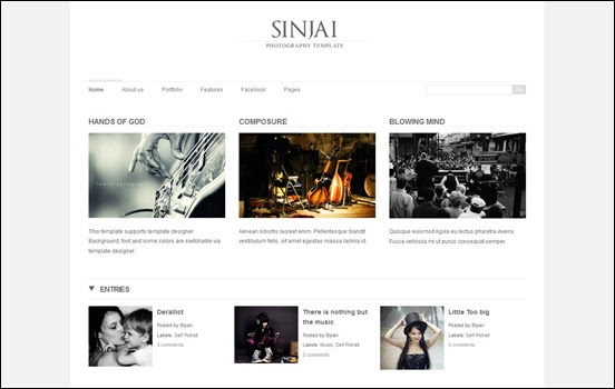Sinjai blogger template