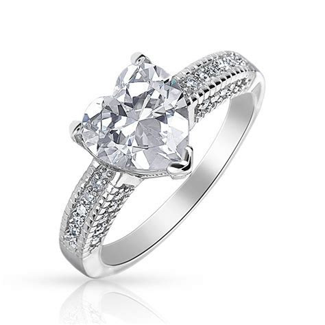 Classic Love Solitaire Cubic Zirconia 925 Sterling Silver