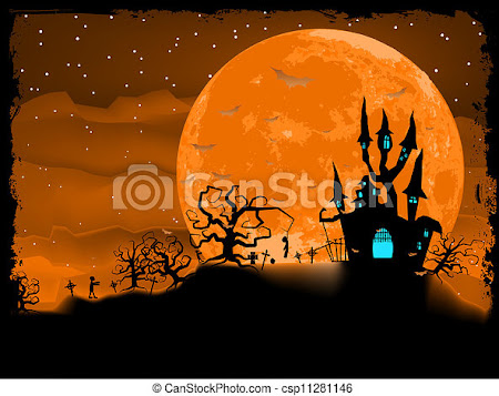 EPS Vector of Halloween poster with zombie background. EPS 8 vector file... csp11281146 - Search Clip Art, Illustration, Drawings and Graphics Images