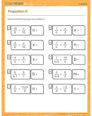 Proportion X Free Printable On Proportion Math Blaster
