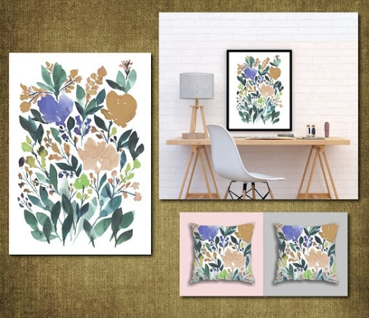 Digital/Printable Hand painted flowers
