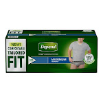 Depend Fit-Flex Max Absorbency Underwear for Men 84 CT- Large