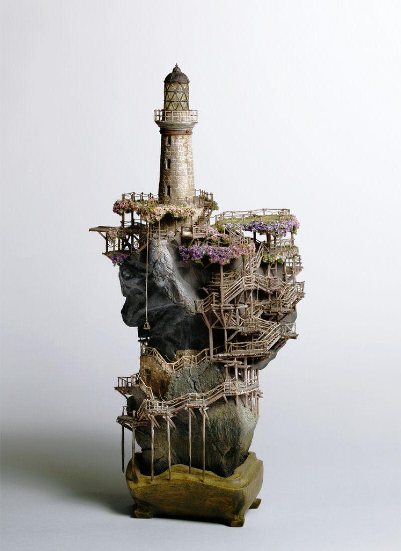 As intrincadas esculturas em miniatura de Takanori Aiba 06