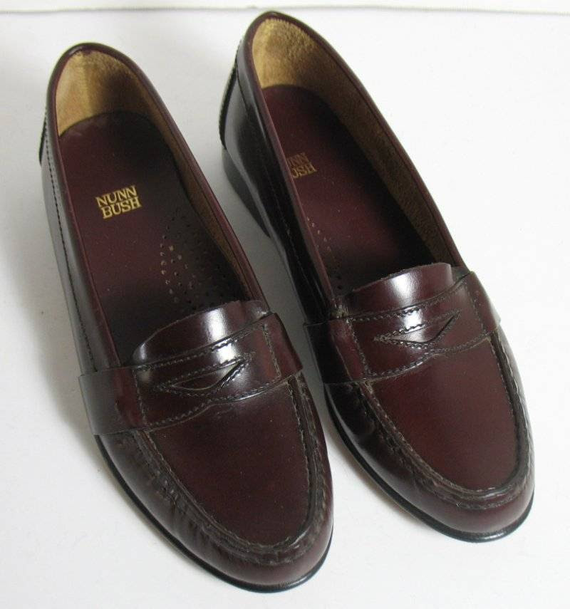New Brown Leather Nunn Bush Lincoln Penny Loafers Youth ...
