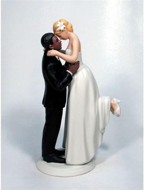 Interracial Bride Groom Personalized Wedding Cake Tops