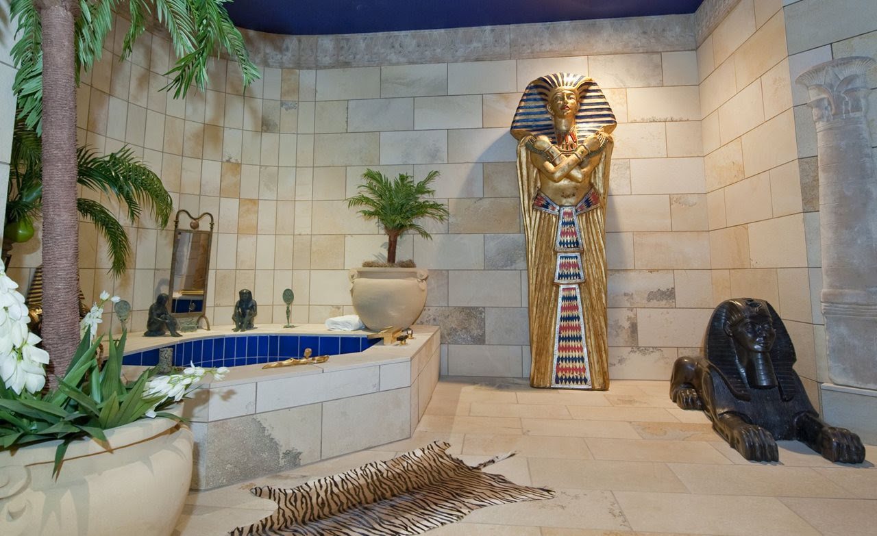Egyptian Style Interior Bathroom
