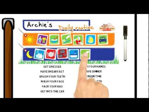 Kids Daily Routine Chart - Monkey & Chops Behavior Charts - YouTube