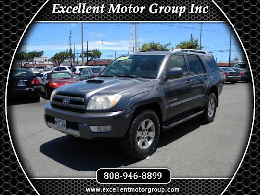 Used 2005 Toyota 4Runner Sport Edition V6 4WD for Sale in Honolulu HI 96817 Excellent Motor Group Inc