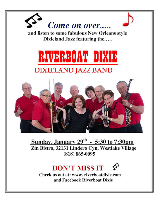 Riverboat Dixieland Jazz Band Returns to Zin Bistro
