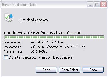 XAMPP Download Complete