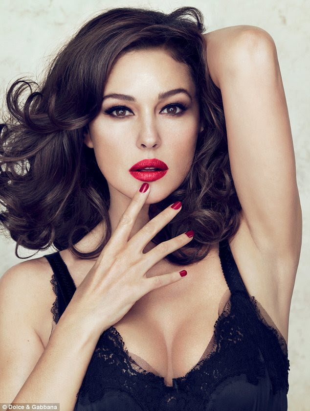 Stealing beauty: Italian stunner Monica Bellucci has lent her famous face to Dolce&Gabbana Make Up and will have her own lipstick line in honour of her perfect pout