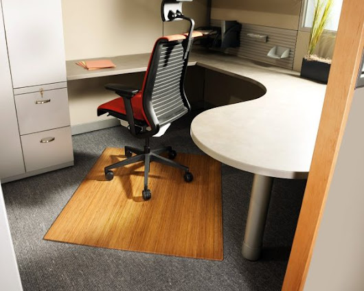 Bamboo Chair Mat - Cubicle Decor Zone