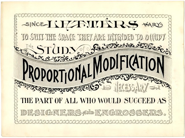 Applied Lettering of Proportional Modification