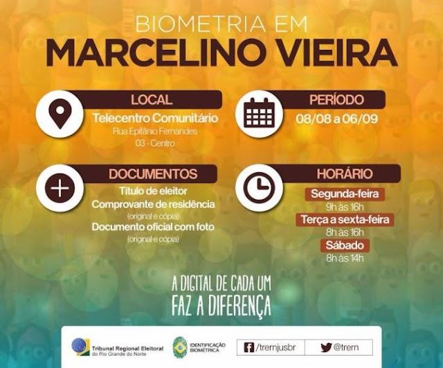 Começa a 4ª etapa da Biometria revisional em Marcelino Vieira