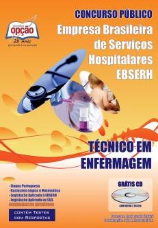 Apostila Concurso EBSERH-HUB-UnB 2016,Técnico em Enfermagem