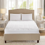 Sleep Philosophy Copper Infused Down Alternative Mattress Pad, White, Twin