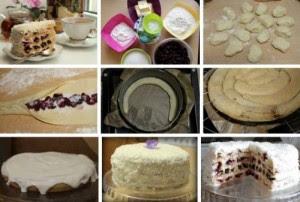Торт-«Вишня-в-снегу»