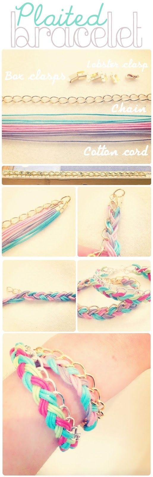DIY Plaited Bracelet
