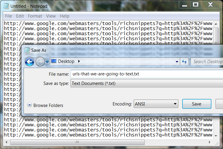 Step 4 - Paste into TXT File