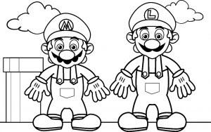 Dibujos Para Colorear Mario Bros Y Luigi Imagesacolorier