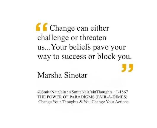 SNJ : T-1867 : THE POWER OF PARADIGMS (Change Your Thoughts & You Change Your Actions)