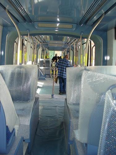 Interior of train car